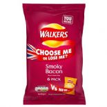 Walkers Smoky Bacon Crisps 6 x 25g